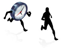 Time Clock Running Work Life Balance Concept Stock Photography