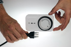 Time clock socket Royalty Free Stock Photos