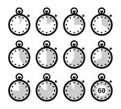 Time, clock, stopwatch  icons set Royalty Free Stock Image