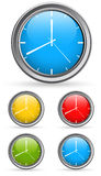 Time Clock Vectors Stock Photo
