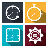 Time,clock, watch icon Royalty Free Stock Image