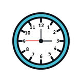 Time clock watch icon Stock Image