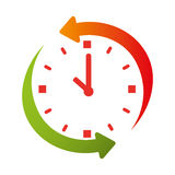 Time clock watch icon Royalty Free Stock Photography