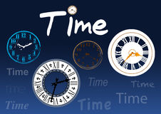 Time clocks Stock Photos