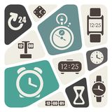 Time and clocks theme background Stock Images