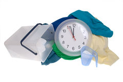Time - clothes for the laundry Stock Images