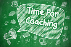 Time For Coaching - Doodle Illustration on Green Chalkboard. Royalty Free Stock Photos