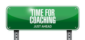 time for coaching road sign illustration design Stock Photo