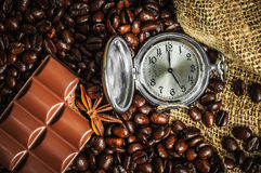 Time for coffe royalty free stock photography