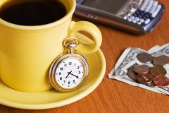Time For Coffee Royalty Free Stock Photos