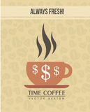 Time coffee Royalty Free Stock Images