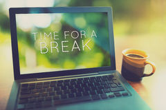 Time for a coffee break vintage editing style Royalty Free Stock Photo