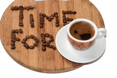Time for coffee concept image Stock Images