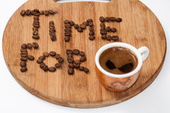 Time for coffee concept image Royalty Free Stock Images
