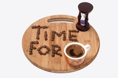 Time for coffee concept image Stock Image