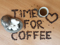Time for coffee stock image