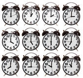 Time Collection of Alarm Clock Royalty Free Stock Photography