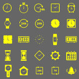 Time color icons on gray background Royalty Free Stock Photos