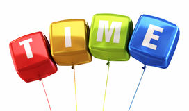 Time colorful balloons Stock Photography
