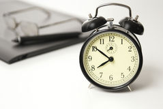 Time Concept. Alarm clock set to ten to eight,Time Concept Stock Image