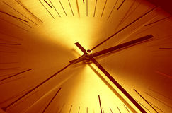 Time concept. Clock face close up - time concept Stock Image