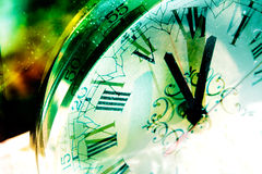 Time concept. Background and old clock Stock Photography