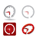 Time concept, abstract clock sign Stock Photography
