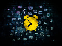 Time concept: Alarm Clock on Digital background Royalty Free Stock Image