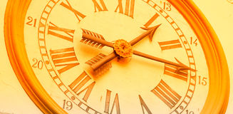 Time concept banner retro wall clock Royalty Free Stock Photo