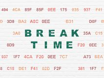 Time concept: Break Time on wall background Stock Photography