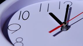 Time concept business clock closeup on white stock video