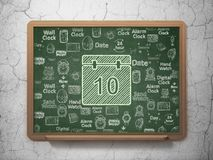 Time concept: Calendar on School board background Royalty Free Stock Photography