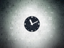 Time concept: Clock on Digital Paper background Royalty Free Stock Photos