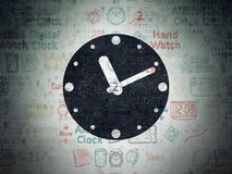 Time concept: Clock on Digital Paper background Royalty Free Stock Photography
