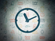 Time concept: Clock on Digital Paper background Royalty Free Stock Images