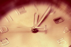 Time concept. Of clock with moving hour hand Royalty Free Stock Photography