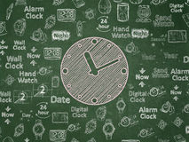 Time concept: Clock on School Board background Royalty Free Stock Images
