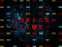Time concept: Coffee Time on Digital background Stock Photography