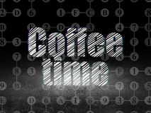Time concept: Coffee Time in grunge dark room Royalty Free Stock Photos