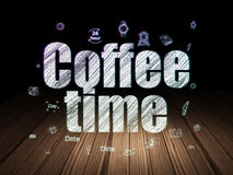 Time concept: Coffee Time in grunge dark room Stock Images