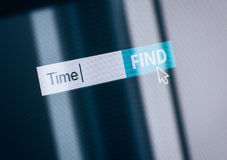 Time concept computer search box Royalty Free Stock Photo