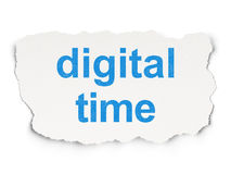 Time concept: Digital Time on Paper background Royalty Free Stock Photo