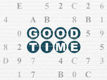 Time concept: Good Time on wall background Royalty Free Stock Photography