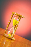 Time concept with hourglass Stock Photography