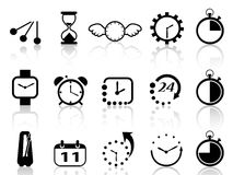 Time concept icons set. Isolated time concept icons set on white background royalty free illustration