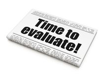 Time concept: newspaper headline Time to Evaluate! Royalty Free Stock Photos