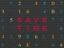Time concept: Save Time on wall background Royalty Free Stock Images