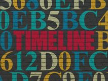 Time concept: Timeline on wall background Royalty Free Stock Photo