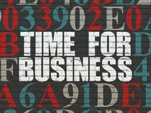 Time concept: Time for Business on wall background Royalty Free Stock Photos