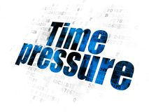 Time concept: Time Pressure on Digital background. Time concept: Pixelated blue text Time Pressure on Digital background Royalty Free Stock Photography